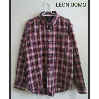 LEON UOMO ボタンダウンチェックシャツ