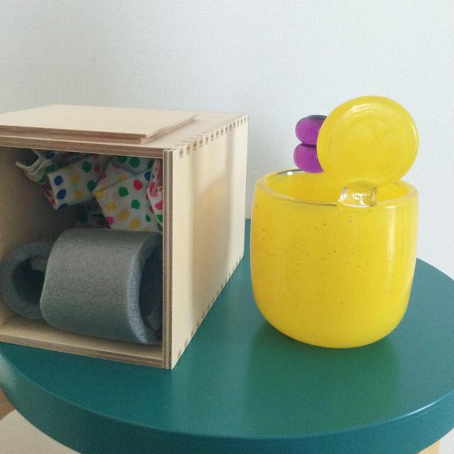 iittala(イッタラ)のpampula vase イッタラ  scope ポムポム yellow インテリア/住まい/日用品のインテリア小物(置物)の商品写真