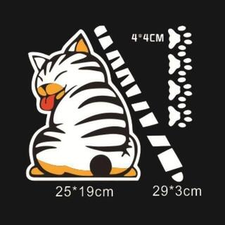 【送料無料】リアワイパー リアウィンドウステッカー 猫