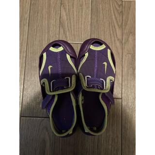 ナイキ(NIKE)のベビー、キッズ サンダル Nike ナイキ 紫色 サイズ15cm (サンダル)
