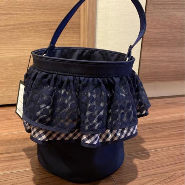 未使用セツコサジテール ネイビー ピクニック レディースのバッグ(ハンドバッグ)の商品写真