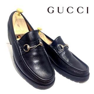 Gucci - GUCCI グッチ 42 1/2 E ラグソール ホースビットローファー 黒