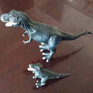 Takara Tomy - ブラックティラノサウルス 親子セット アニア 恐竜