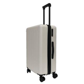 軽量 スーツケース TSAロック搭載 360°回転キャスター【S】【ホワイト】(旅行用品)
