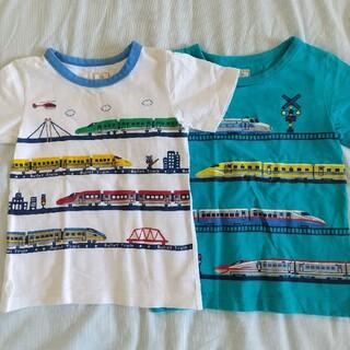 motherways - マザウエイズ 新幹線 Tシャツ二枚セット100(110)