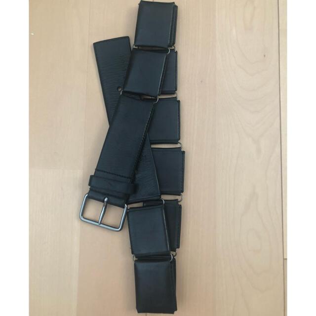 Jil Sander(ジルサンダー)のJIL SANDER/linking leather belt メンズのファッション小物(ベルト)の商品写真