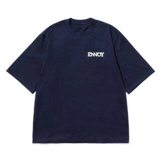 1LDK SELECT - ennoy エンノイ Tシャツ ロゴ ネイビー XL