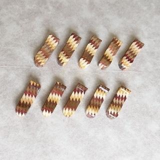 寄木細工  箸置き  10個セット(テーブル用品)