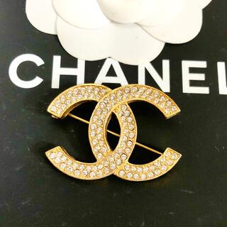 CHANEL - 正規品 シャネル ブローチ ゴールド ココマーク 二列石 ラインストーン 金 2