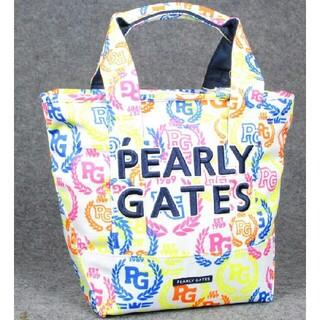パーリーゲイツ(PEARLY GATES)のPRARLY GATES  カラフルローリエ柄カートバッグ未使用品(バッグ)