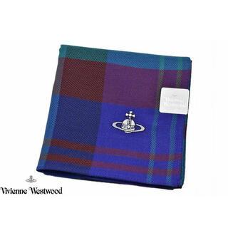 Vivienne Westwood - ヴィヴィアン ウエストウッド ハンカチ ブルー チェック ユニセックス