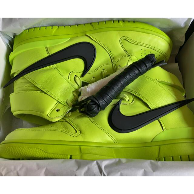 NIKE(ナイキ)のNIKE × AMBUSH DUNK HIGH Flash Lime  27cm メンズの靴/シューズ(スニーカー)の商品写真