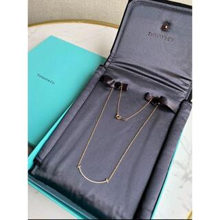 Tiffany & Co. - Tiffany ティファニー Tスマイルネックレス イエローゴールド ダイヤ