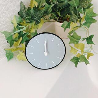 掛け時計 置き時計 シンプル モノトーン  無地 グレー 灰色