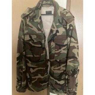 Saint Laurent - サンローラン 迷彩 Love Patch Military Jacket  M