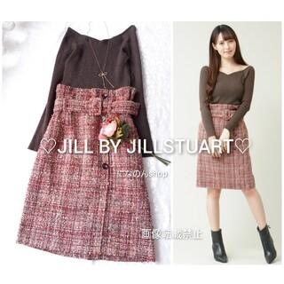 JILL by JILLSTUART - とても美品 ジルバイジルスチュアート ファンシーツイードワンピース(ボルドー系)