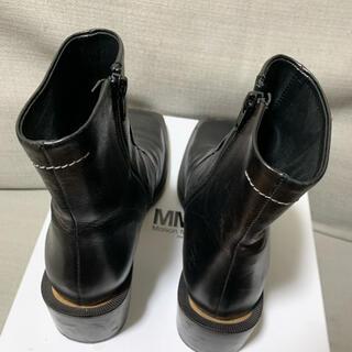 MM6 - mm6 スクエアトゥアンクルブーツ