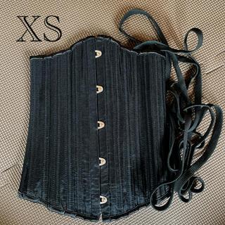 【XSサイズ】 Burvogue(バーヴォーグ) コルセット メッシュ・ブラック(エクササイズ用品)