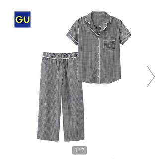 GU - ★美品★GU パジャマ チェック・半袖 XL