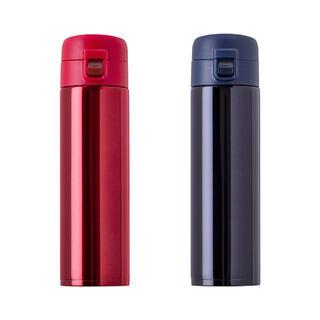 【新品】ワンタッチステンレスマグボトル 520ml ネイビー 箱付き(水筒)