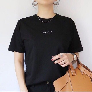 agnes b. - アニエスベー agnes b. チビロゴ ちびロゴ 小ロゴ 半袖 黒 新品