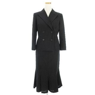 ラルフローレン(Ralph Lauren)のラルフローレン スーツ ジャケット 七分袖 スカート ひざ下丈 黒 白 9 7(スーツ)
