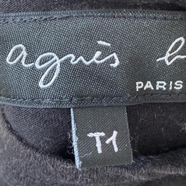 agnes b.(アニエスベー)の♡agnes b.♡アニエスベー Tシャツ ブラック レディースのトップス(Tシャツ(半袖/袖なし))の商品写真