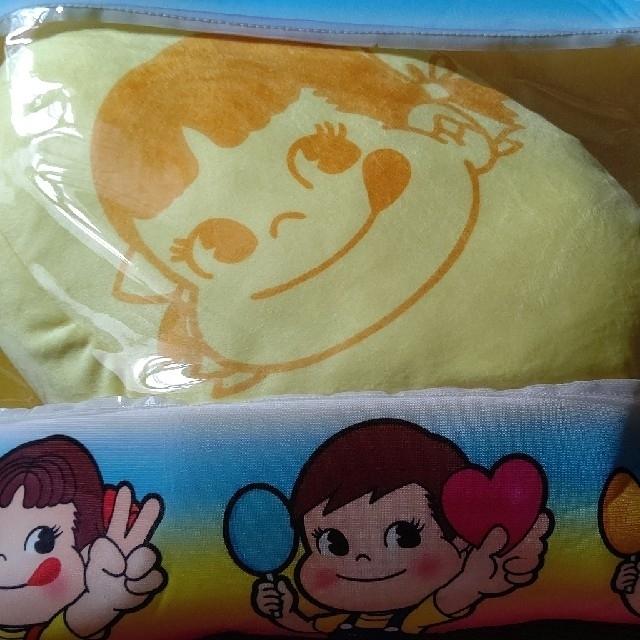 不二家 ペコちゃん ポコちゃん ポップキャンディ BIGクッション エンタメ/ホビーのおもちゃ/ぬいぐるみ(キャラクターグッズ)の商品写真