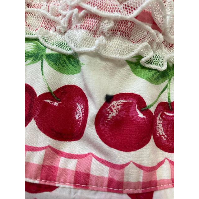 Shirley Temple(シャーリーテンプル)のシャーリーテンプルさくらんぼワンピースサイズ100 キッズ/ベビー/マタニティのキッズ服女の子用(90cm~)(ワンピース)の商品写真