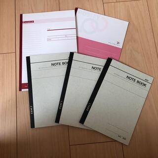 コクヨ(コクヨ)のノート:A5サイズ3冊 B5サイズ2冊(ノート/メモ帳/ふせん)