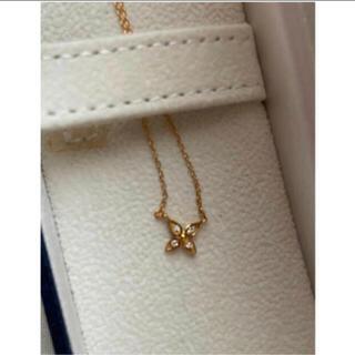 ミキモト(MIKIMOTO)の安心堂 ダイヤモンド お花 ネックレス 新品未使用(ネックレス)