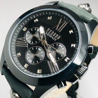 ジャンニヴェルサーチ(Gianni Versace)の【新品】ヴェルサス/ヴェルサーチ 人気モデル ブラック クォーツ メンズ腕時計(腕時計(アナログ))