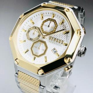 ジャンニヴェルサーチ(Gianni Versace)の【新品】ヴェルサス/ヴェルサーチ 人気モデル シルバー ゴールド メンズ腕時計(腕時計(アナログ))