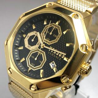 ジャンニヴェルサーチ(Gianni Versace)の【新品】ヴェルサス/ヴェルサーチ 人気モデル ゴールド クォーツ メンズ腕時計(腕時計(アナログ))
