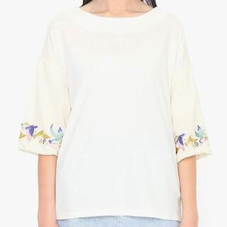 グラニフ(Design Tshirts Store graniph)のグラニフ 袖刺繍トップス 新品タグつき(カットソー(長袖/七分))