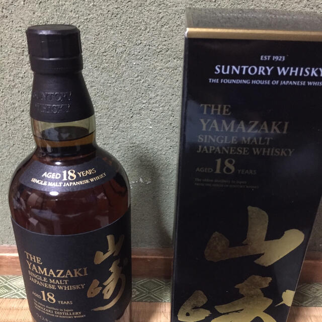 山崎18年 食品/飲料/酒の酒(ウイスキー)の商品写真