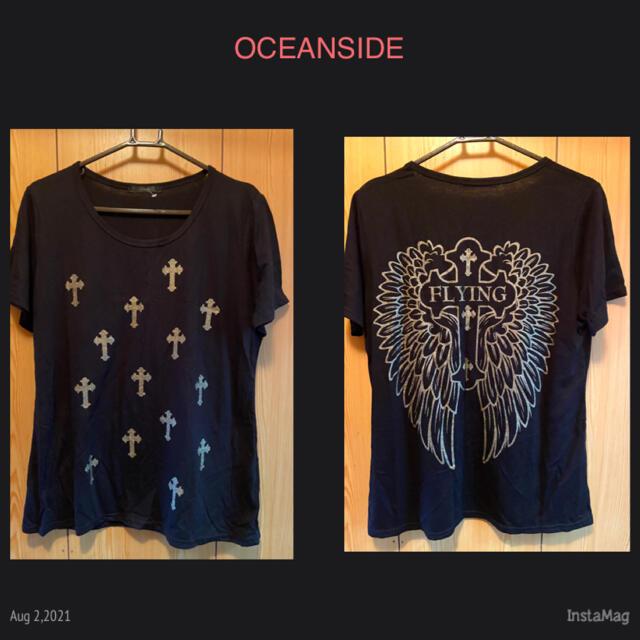 大きいサイズ✰*。クロス&エンジェルTシャツ レディースのトップス(Tシャツ(半袖/袖なし))の商品写真