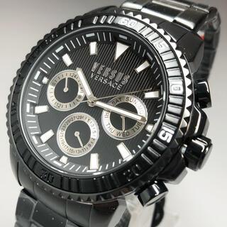 ジャンニヴェルサーチ(Gianni Versace)の【新品】 ヴェルサス/ヴェルサーチ 人気モデル ブラック  メンズ高級腕時計(腕時計(アナログ))