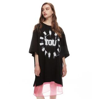 ドリスヴァンノッテン(DRIES VAN NOTEN)のDRIES VAN NOTEN★Tシャツ スウェット 半袖 オーバーサイズ XS(Tシャツ(半袖/袖なし))