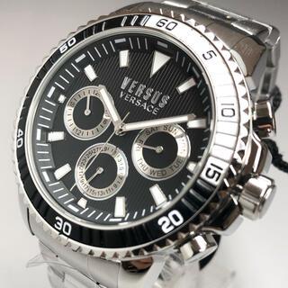 ジャンニヴェルサーチ(Gianni Versace)の【新品】 ヴェルサス/ヴェルサーチ 人気モデル シルバー  メンズ高級腕時計(腕時計(アナログ))