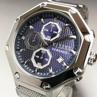 ジャンニヴェルサーチ(Gianni Versace)の【新品】ヴェルサス/ヴェルサーチ 人気モデル シルバー クォーツ メンズ腕時計(腕時計(アナログ))