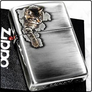 ZIPPO - 送料無料☆zippo☆キャットポーⅡ☆アンティークシルバー☆子猫ちゃん☆ジッポ