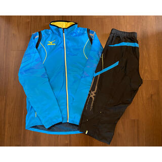 ミズノ(MIZUNO)の陸上 ミズノ MIZUNO MTC ウインドブレーカー シャツ パンツ 青黒(陸上競技)