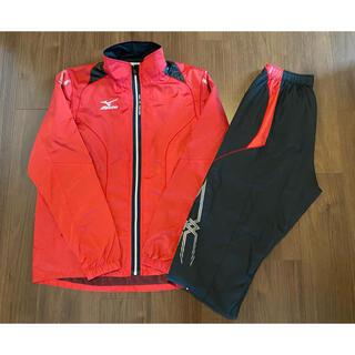 ミズノ(MIZUNO)の陸上 ミズノ MIZUNO MTC ウインドブレーカー シャツ パンツ 赤黒(陸上競技)