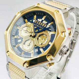 ジャンニヴェルサーチ(Gianni Versace)の【新品】ヴェルサス/ヴェルサーチ 人気モデル ゴールド×シルバー メンズ腕時計(腕時計(アナログ))
