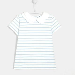 ジャカディ(Jacadi)のjacadi NARNIABIS 2枚襟ボーダー半袖Tシャツジャカディ(Tシャツ/カットソー)