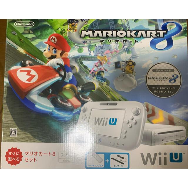 任天堂(ニンテンドウ)のWii U すぐに遊べるマリオカート8セット(シロ)/Wii U/WUPSWAG エンタメ/ホビーのゲームソフト/ゲーム機本体(家庭用ゲーム機本体)の商品写真