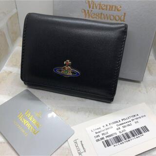 Vivienne Westwood - ヴィヴィアン ウエストウッド ソフトレザー 三つ折り 財布 黒 新品未使用
