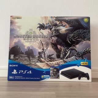 プレイステーション4(PlayStation4)のプレイステーション4 モンスターハンター:ワールド スターターパック ブラック/(家庭用ゲーム機本体)