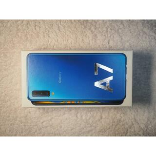 SAMSUNG - SAMSUNG Galaxy A7 ブルースマホ 美品 箱付き 送料無料